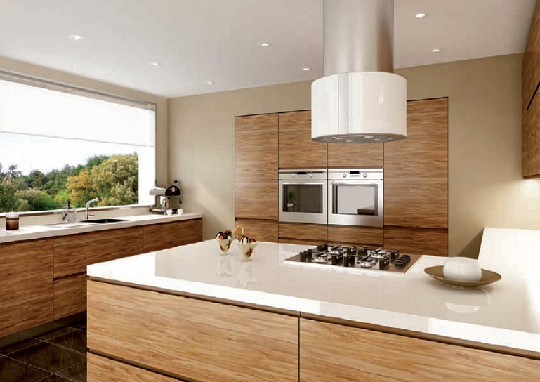 Veneer Kitchen Doors  Meble Uk Ltd -> Kuchnia Biala Polysk Z Drewnem